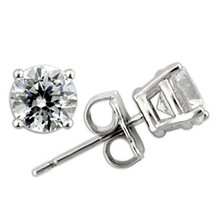 4.34ct Round Cut Cz Stud Earrings - $14.69