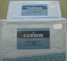 Cannon Whispering Leaf Sheet Set - BRAND NEW PACK - Cotton Blend 250 TC ... - $39.99