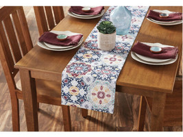 "Mainstays Painted Tile Fabric Table Runner, 12""W x 72""l - $12.37"