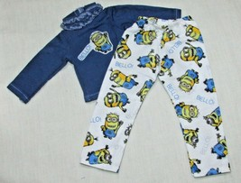 """14"""" doll clothes hand made outfit pajamas Despicable Me Minions top shir... - $8.90"""