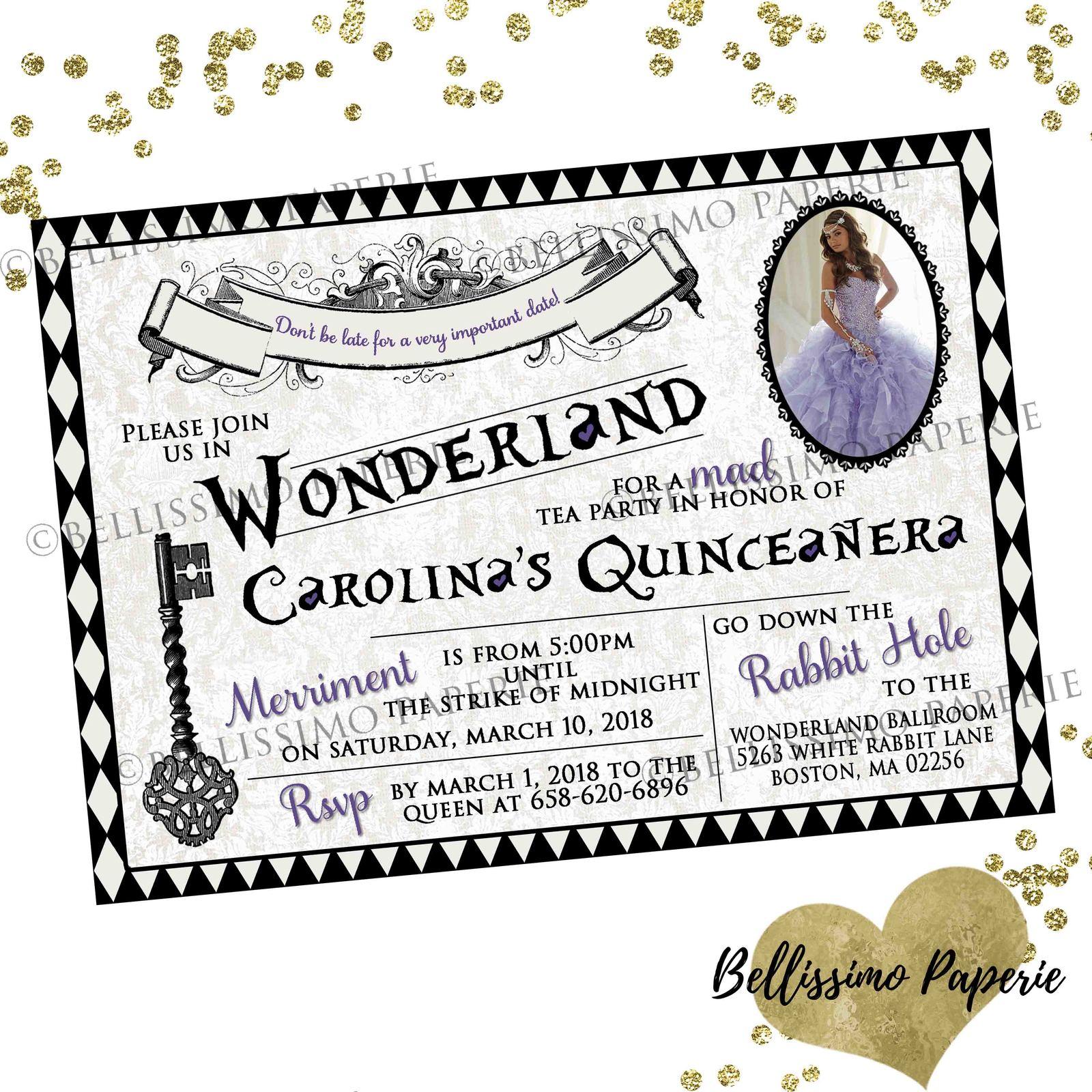 Alice in Wonderland Birthday Invitation and similar items