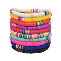 Yumfeel New Fashion bracelet Women 10pcs/lot Mixed Colotrs Polymer Clay ... - $37.36