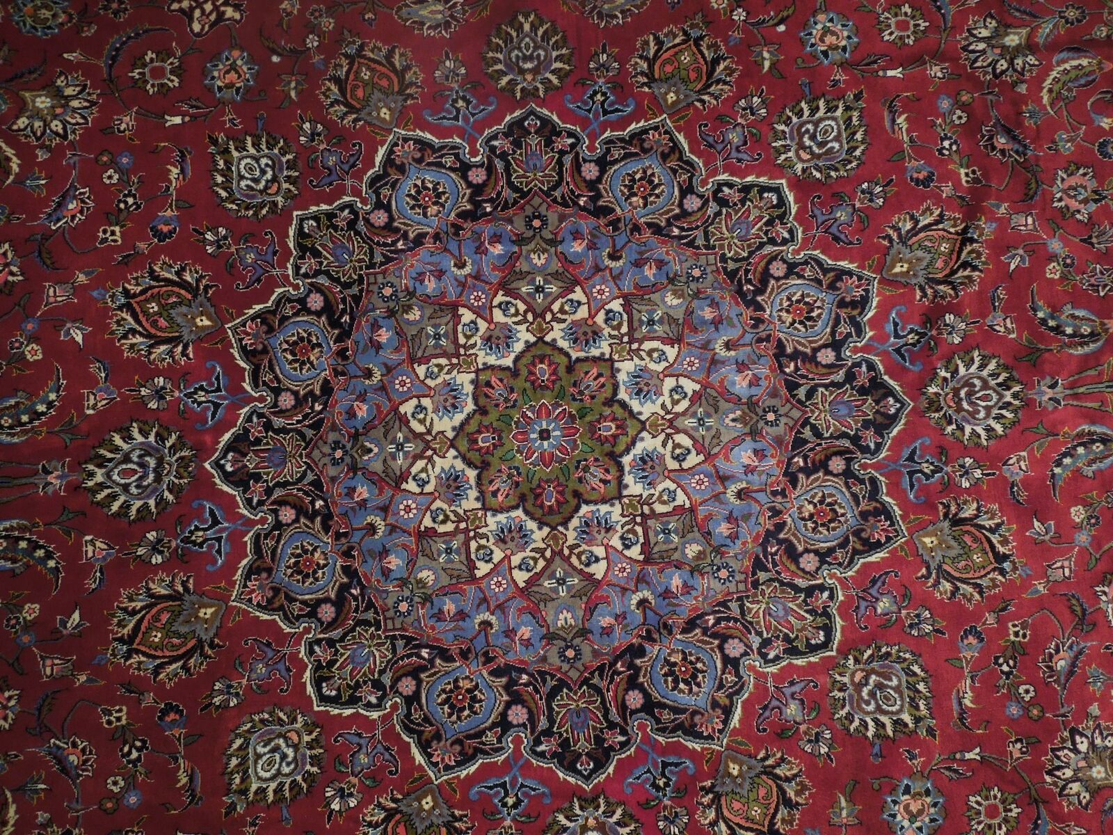 11x17 Red Traditional Handmade Fine Quality Sheik Safi Najaf Persian Rug image 6