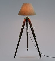 Nauticalmart Floor Lamp Base -WOODEN & Brass - $98.01