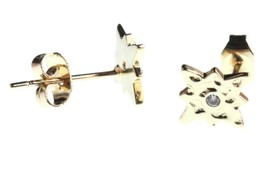 NEW Kevia 18K Gold Plated Cubic Zirconia Crystal Starburst Post Stud Earrings image 2