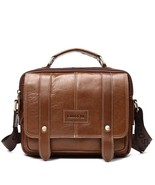 BDF New Arrival Genuine Leather Men Messenger Bag Vintage Brown Satchel ... - $70.80