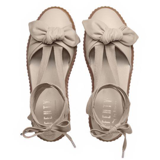 c676beec4b5a Puma Fenty Bow Creeper Sandal Womens 6.5 Ankle Laced Rihanna Gum Light Pink  -  49.95