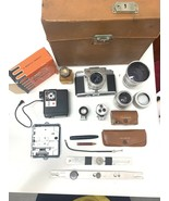 Antique Polaroid Camera Ambi Silette With Leather Case Lenses And All Pa... - $1,309.52