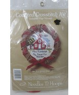 Needles n Hoops School Days mini wreath Sampler Counted Cross Stitch Kit... - $8.90