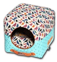 Chirpin-Avery Convertible Squared 2-in-1 Collapsible Pet Dog Bed Beds House