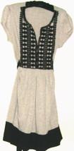 Women's Gray / Black V Neck Dress Size M - $13.00