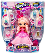 Shopkins Shoppies Doll Exclusive Special Edition Chandelia S7 w/ 6 Shopkins - $35.95