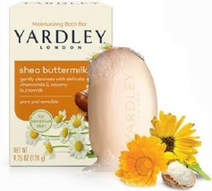 3 Yardley London Shea Buttermilk Moisturizing Bath Bar For Sensitive Skin - $12.21
