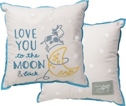 "Love You To The Moon And Back Throw Pillow 15"" ... - $28.71"