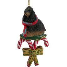 Conversation Concepts Cocker Spaniel Black & Tan Candy Cane Ornament - $15.99