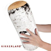 Birch Log Pillow Micro Bead Head Cushion Comfy Travel Pillow By Kikkerland - $16.20