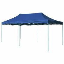 vidaXL Foldable Tent Pop Up 19.7'x9.8' Blue Waterproof Outdoor Marquee G... - $149.99