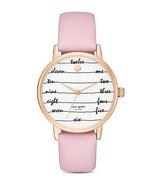 Kate Spade Women's Metro Ballet Slippers Chalkboard Pink Leather Watch, ... - $166.43