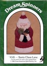 Santa Claus Lane Full Size Santa for Wall or Door Dream Spinners Pattern... - $4.47