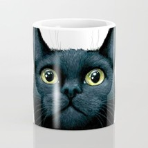 Coffee Mug Cup 11oz or 15oz Made in USA black Cat 606 art painting L.Dumas - $19.99+