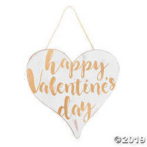 Gold & White Valentine's Day Wall Sign - $16.24