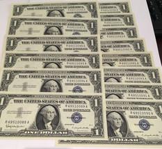 Lot of 15 Consecutive 1957 $1 Silver Certificates GEM Crisp UNC Banknote... - $299.00
