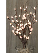 "New Pussy Willow 60 ct Lighted Branch Electric 19-3/4"" Soft White Indoor - $39.59"