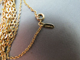 """VTG Sarah Coventry Chain Necklace Tassel Pendant Gold Plated 23"""" Smooth Finish image 6"""