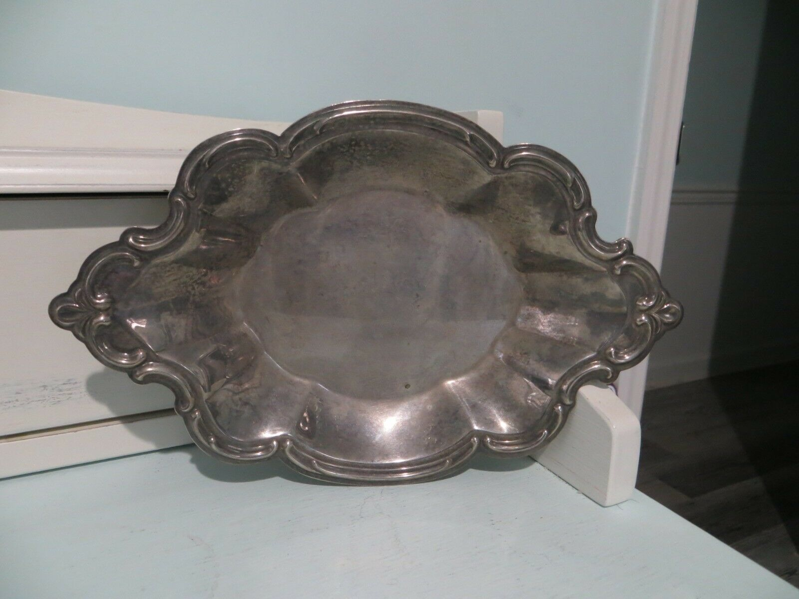 Vintage small silver nut/candy dish made by The International Silver Company image 2