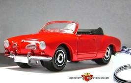CUSTOM KEY CHAIN RED & BLACK VW VOLKSWAGEN KARMANN GHIA CABRIOLET CONVER... - $24.94