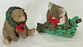 Silver Deer Christmas Bear or Koala Tom Rubel Wild Animal Figurines - $26.39