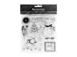 Recollections Winter Wonderland Clear Acrylic Stamp Set #119956