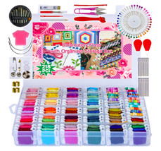 Friendship Bracelets Kits Embroidery Floss Kit Organization Box Cross St... - $47.99