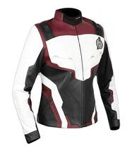 Womens Avengers Endgame Costume Quantum Realm High Tech Maroon Leather Jacket image 2