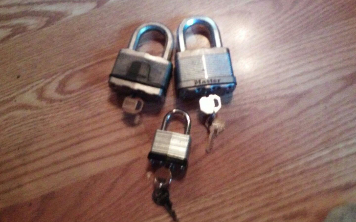 3 Padlocks with keys - Mixed Lot - FREE SHIP