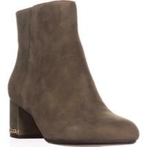 MICHAEL Michael Kors Sabrina Mid Chain Heel Booties, olive, 6.5 US / 36.... - $90.23