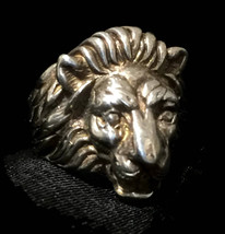 Vintage Lion Sterling Silver Ring Ring Size 5.75  - $78.00