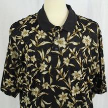 Cooke Street Hawaiian Island Short Sleeve Polo Collared Shirt Hibiscus S... - $23.38