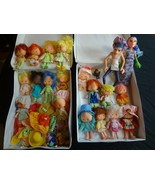 Vintage 1982 Strawberry Shortcake Assorted Dolls with Carrying Cases - $86.85