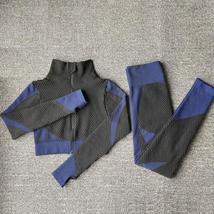 Women's New Crop Tops Leggings Seamless Sportswear High Waist Yoga Suit image 9