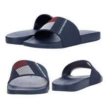 Men's Tommy Hilfiger Designer Flag Logo Slippers Ednor Casual Slide Sandals
