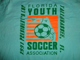 Green VINTAGE Screen Stars 1991 Presidents Cup Youth Soccer T-Shirt Mens XL NICE - $20.14