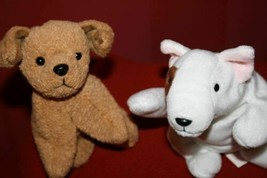 """2 Ty Beanie Babies """"99' BUTCH Bull Terrier + 96' TUFFY the Terrier Puppy... - $11.15"""