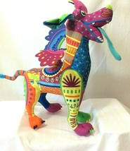 "Disney Pixar Stuffed Plush Coco Dante Alebrije 15"" Multi Colored Winged Dog - $24.70"