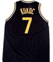 Toni Kucok #7 Jugoplastika Yugoslavia Men Basketball Jersey Black Any Size image 2