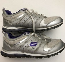 Skechers Revv Air Cross Trainer Shoes Ln Womens Sz 8.5  Sn 12266 WHITE/SILVER - $16.83
