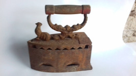 Antique Old Hand Forged Cast Iron Sad Charcoal Clothes Iron. - $59.00