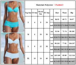 Womens Padded Bikini Set Boy Shorts Swimwear Bathing Suit Swimsuit Beachwear image 4