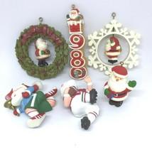 6 Hallmark Tree-Trimmers Santas Christmas Vintage 70s 80s Ornaments - $44.49