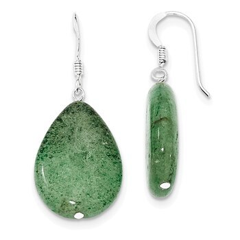 Primary image for Lex & Lu Sterling Silver Cracked Green Aventurine Earrings
